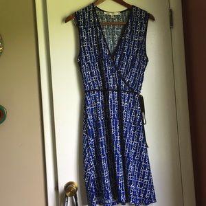 Max Studio Business casual blue sun dress Large
